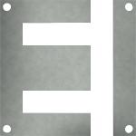 Lamierini monofase Serie EI con fori spostati