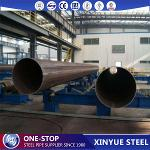 Steel pipes for berth construction works
