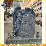 Viscount White Carved Weeping Angel Memorial With Lantern