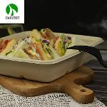Bio Disposable Bento Box Lunch Bamboo Paper Takeaway Food Container