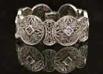 Byzantine Bracelet in Sterling Silver with Zircon (B-01)