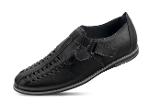 Closed men's sandals in black color