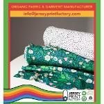 Custom printed knit fabric organic knit fabric factory