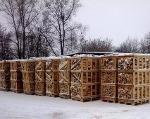 Дрова колотые из лиственных пород древесины