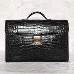 Luxury new design men genuine crocodile leather brifecase bag