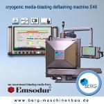 Cryogenic media-blasting deflashing machine