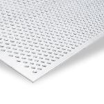 Aluminium perforated plate, EN AW-1050, Mill-finish, H14/H24