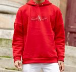"SWEATSHIRT ROUGE ""CHANCES"""