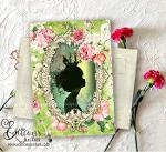 silhouette – Carte Postale Victorienne – Carte d'art