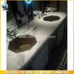 Beautiful Carrara White Marble Vanity Tops With Octagon Sink