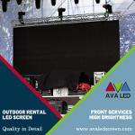 Utendørs konsertområde ledede skjermsystemer