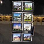 A4 Porträt Led Fenster Licht Pocket Panel Immobilien Display