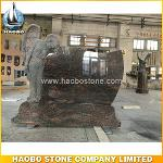 Special Carved Angel Monument With Himalay Blue SRE Granite