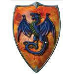 Bouclier Ecusson Dragon Bleu 47x35
