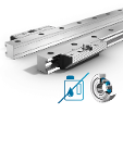 Linear Guides Type Fde-R Pair Of Single Rails And Pair Of Roller Shoes