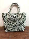 cotton fashion mandala handbag tote shopping carry bags