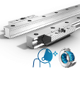 Linear Guides Type Fdi-R Pair Of Single Rails And Pair Of Roller Shoes