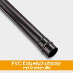 PVC Kabelschutzrohr mit Steckmuffe