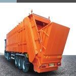 Rear Loading Waste Compactor Semi-Trailer