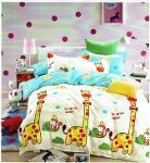 ensemble de lit satin de coton fleuri enfant