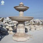 Outdoor Garden Stone Water Feature Waterwheel Fountain
