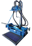 Mini fluid-assisted drill rig