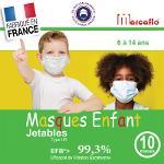 Masques Enfant Jetables Haute Protection X10