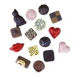 Wholesale Custom resin 3D chocolate fridge magnet