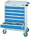Mobile drawer cabinet T500-6 with 7 drawers, front 100