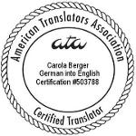 Certified German to English Translations