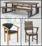 OAK ARMCHAIRS / BENCHES