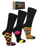 """Socken-Geschenkbox Herren """"Buntes Business"""" * 3er-Box"""