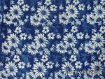 indigo blue dabu printed cotton fabric, hand block blue fabr