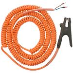 Coiled Grounding Cable with 2-pole Clamp, for EKK-3/C