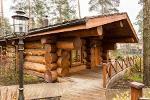 Building wooden log houses