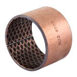 Wrapped composite sliding bearing steel / bronze