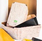 Compact cardboard baskets