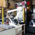 Robot de chargement de centre d'usinage