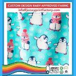 Gots Organic Custom print Knit fabric Christmas design