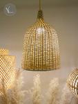 Bell-Shaped Rattan Pendant Light