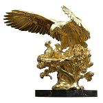 ANATOLIOS Golden Eagle Nest Sculpture