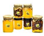 Фасованный мед акации, мед липы, мед подсолнуха