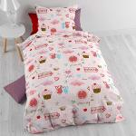 Baby Cotton Bedding Small love Pink