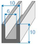 U-shape rubber profile