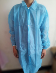 Disposable nonwoven lab coat