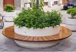 Round planter bench Model 92