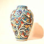 Handpainted Relief Vase
