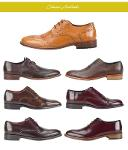 Botas e sapatos de couro