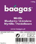 Organic blueberries/Mirtilo biológico