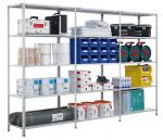 Bolted shelving system, storage rack, 2000x1000x500 mm